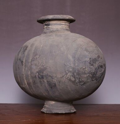 Heavy Chinese Spring And Autumn Antique Pot Polished Pottery DOU Old Jar JZ484