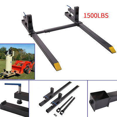 Clamp on Loader Bucket Skidsteer Tractor Pallet Fork 1500lbs Capacity Chain New