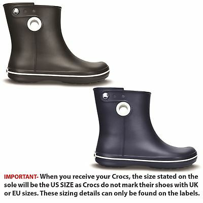 0645d338f685 Crocs Jaunt Shorty Rainy Roomy Fit Women Wellies Ankle Wellington Pull On  Boots