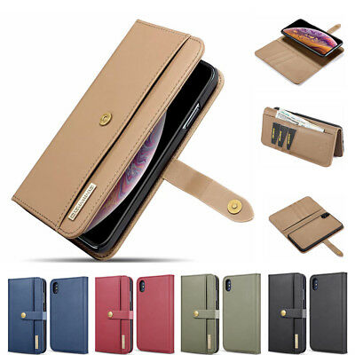 Detachable Luxury Flip Leather Wallet Case Cover For iPhone XS XR XS Max 6 8Plus