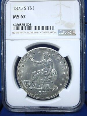 1875-S T$1 Trade Dollar NGC MS62 BRILLIANT!!!!!