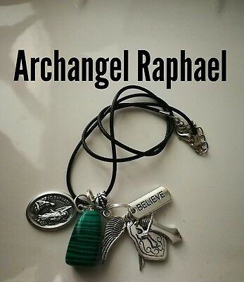 Code 396 Malachite Archangel Raphael Infused Necklace Shield for Health Wrap up
