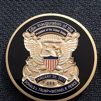 Trump - Pence 2017 Inauguration VINTAGE gold 1.75in challenge coin