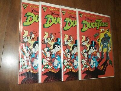Duck Tales #1 Giant Size Gladstone Comics Lot Of 4 Avg Vf-Nm