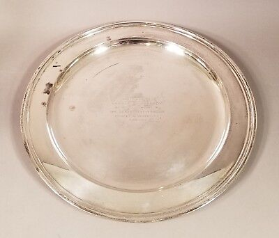 Antique Vintage Tiffany Sterling Silver Princeton Charge Plate 31.23 Ounces
