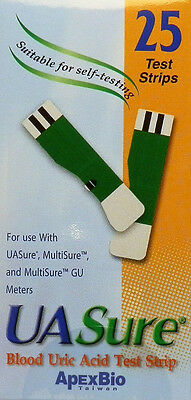 UASure Uric Acid Test Strips. USA Seller. UA Sure. Box of 25. Gout, Easy Strips.