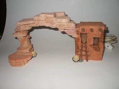 """FRIENDS OF THE FEATHER """"Lighted Pueblo with Arch"""""""