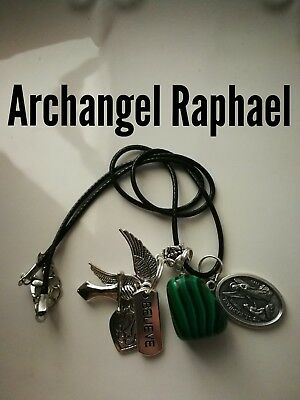 Code 397 Malachite Archangel Raphael Infused Necklace Shield for Health Wrap up