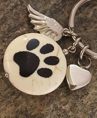 Pet Memorial Jewelry | Pet Loss Cat Dog Pet Ash Urn | Paw Print Urn Necklace