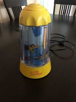 The Simpsons 2002 Glow In The Dark Motion Lamp - Tested Working Great