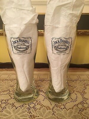 Pair Of Jack Daniels Saloon Old Time Nashville Tennessee Beer Glass