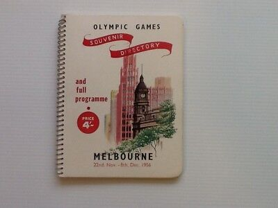 Melbourne Olympic Games 1956 Souvenir Directory.