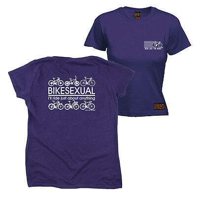 c25379548 FB Cycling Tee Bikesexual Novelty Womens Fitted Cotton T-Shirt Top T Shirt