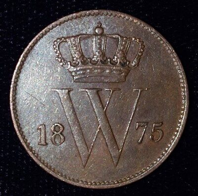 1875, 1 Cent from the Netherlands.  No Reserve!