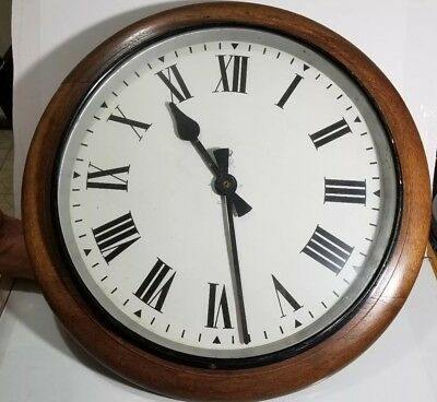 English GPO Wall Clock Marked ER and GPO on dial