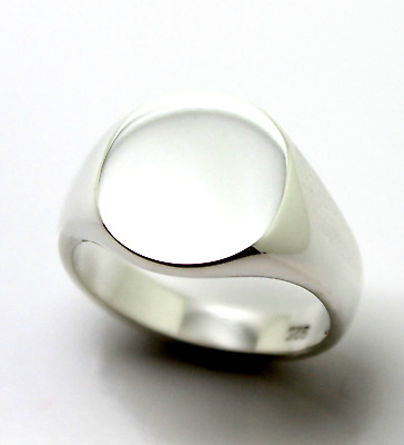 Size L Sterling Silver Oval Signet Ring *Free Express Post