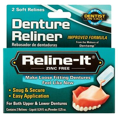 New Reline-It Zinc Free Denture Reliner 2 Ct.