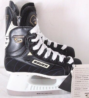 Bauer Supreme 1000 NEW Tuuk Ice Hockey Skates Youth Women's Girl's US 3D