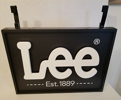 "Vintage LEE Jeans Advertising Display Sign 20"" X 15"""