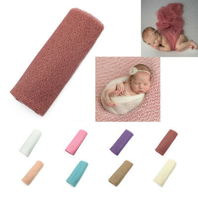 Baby Blanket Wraps Stretch Knit Wrap Newborn Photo Photography Props Wraps Cloth