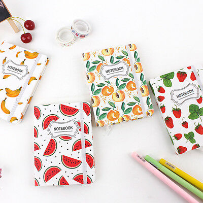 """Fruit Time"" 1pc Cute Hard Cover Freenote Diary Notebook Lined Study Journal"