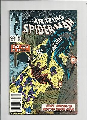 The Amazing Spider-Man #265 1st App. Silver Sable (Jun 1985, Marvel) FN-