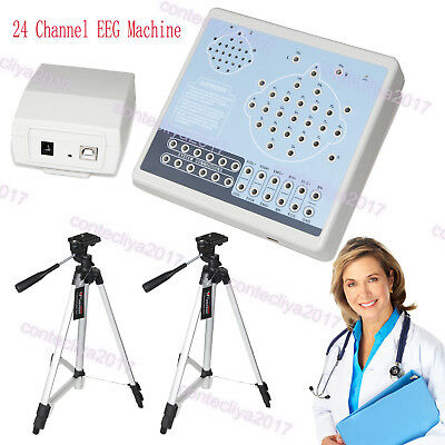 US Digital 24 Channel EEG&Mapping System Machine KT88-2400,PC Software,2 Tripods