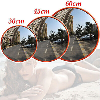 Wide Angle Security Round Reflective Convex Road Mirror Traffic Driveway Safety
