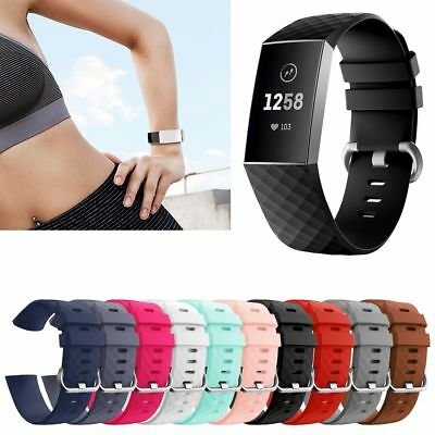 Fitbit Charge 3 Various Luxe Silicone Strap Replacement Wristband Watch Bracelet