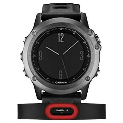 Garmin Fenix 3 Sapphire Grey/Black Performer Bundle with GEN GARMIN WARR