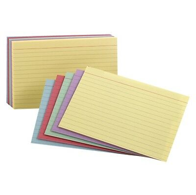 Esselte Pendaflex Oxford Rainbow Ruled Index Card, 3 X 5 in, Multiple Color, Pac