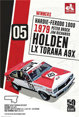 Holden - 1979 Bathurst Winner POSTER 61x91cm NEW Peter Brock LX Torana A9X