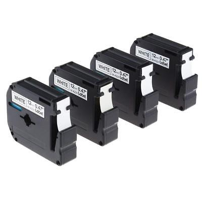 4PK M-K231 Compatible for Brother Black on White P-touch 1/2'' Label Tape MK231