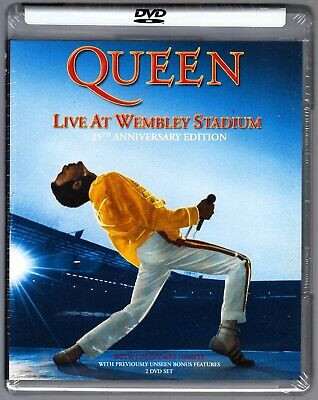 Queen Live At Wembley July 11 & 12 1986 Gigs Freddie Mercury 2 Disc Dvd Extras