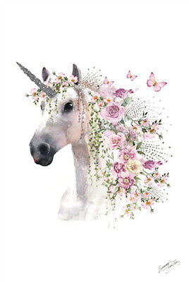 Summer Thonrton - Unicorn POSTER 61x91cm NEW magical horse flowers butterfly