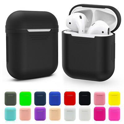 Silicone Bluetooth Wireless Earphone Case For AirPods Protective Cover Skin TPU