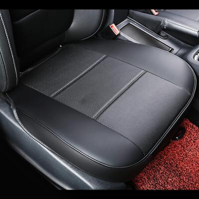 Universal PU Leather Car Cover Seat Protector Cushion Black Front Cover Deluxe