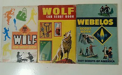 Vintage Boy Scouts of America Webelos Cub Scout Book set of 3