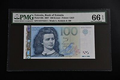 Estonia 2007 pick#88b PMG66 EPQ, 2311