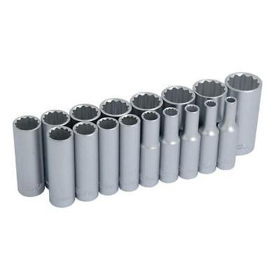 "CT0874 17pc 3/8"" Drive Metric Deep Socket Set - 12 Point"