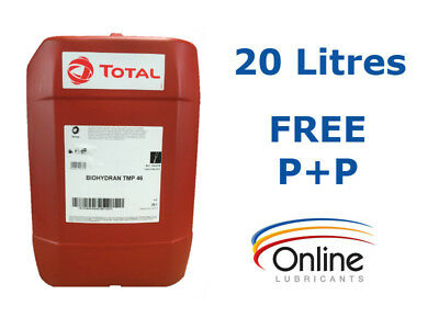 Total Biohydran TMP 46 Fully Synthetic Biodegradable Hydraulic Oil 20L 20 Litres