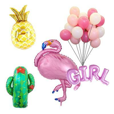 Hawaiian Tropical Flamingo Boy Girl Pineapple Cactus Balloons Baby Shower