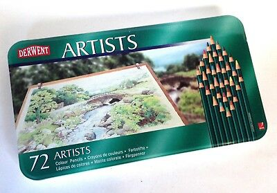 DERWENT 72 ARTISTS Colour Pencils - Little Used