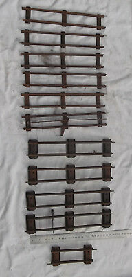 11 Pieces of Straight Clockwork Track could be Hornby