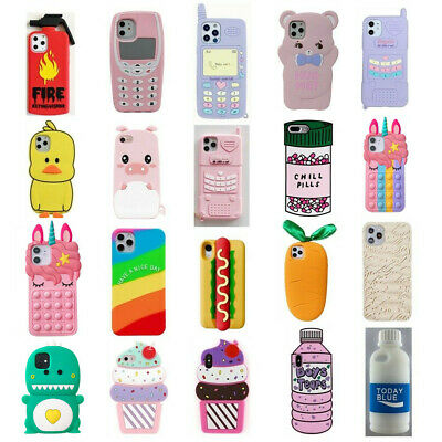 3D Cartoon Unicorn Silicone Rubber Kids Gift Case For iPhone 6 7 8 XS XR Touch 6