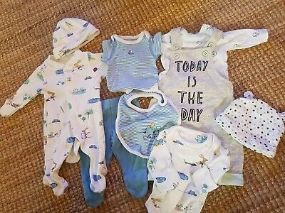 Boys Newborn Clothes Bundle. M&S And Mothercare. Small Baby 7.6 Pounds