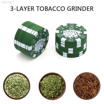 113F Convenient Chip Style Tabacco Spice Crusher Metal Herb Grinder