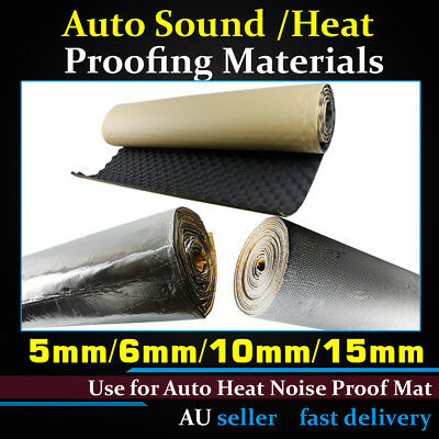 Heat Shield Insulation Soundproof Sound Deadener Deadening Noise Block Auto Car
