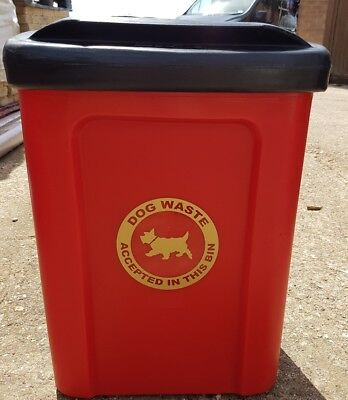 Dog Waste Poo Bin with internal liner and fixings