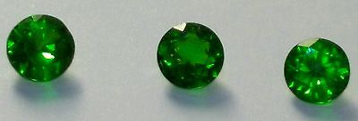 💎1,53 Cts 🍀 Chrome Diopside Naturelle🌸 Russie 🌍5 mm x 3,9 mm 🍀🌿🌹 3 Pièces